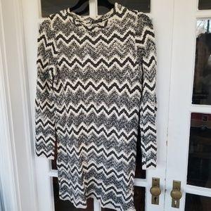 NWT  - Zara Sweater Dress Chevron Stripe